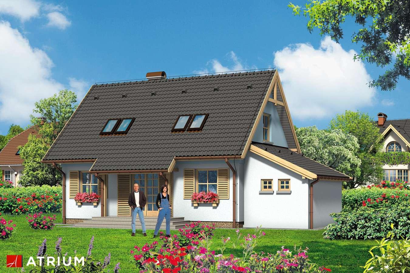 Projekty domów - Projekt domu z poddaszem BłęKITEK - wizualizacja 2