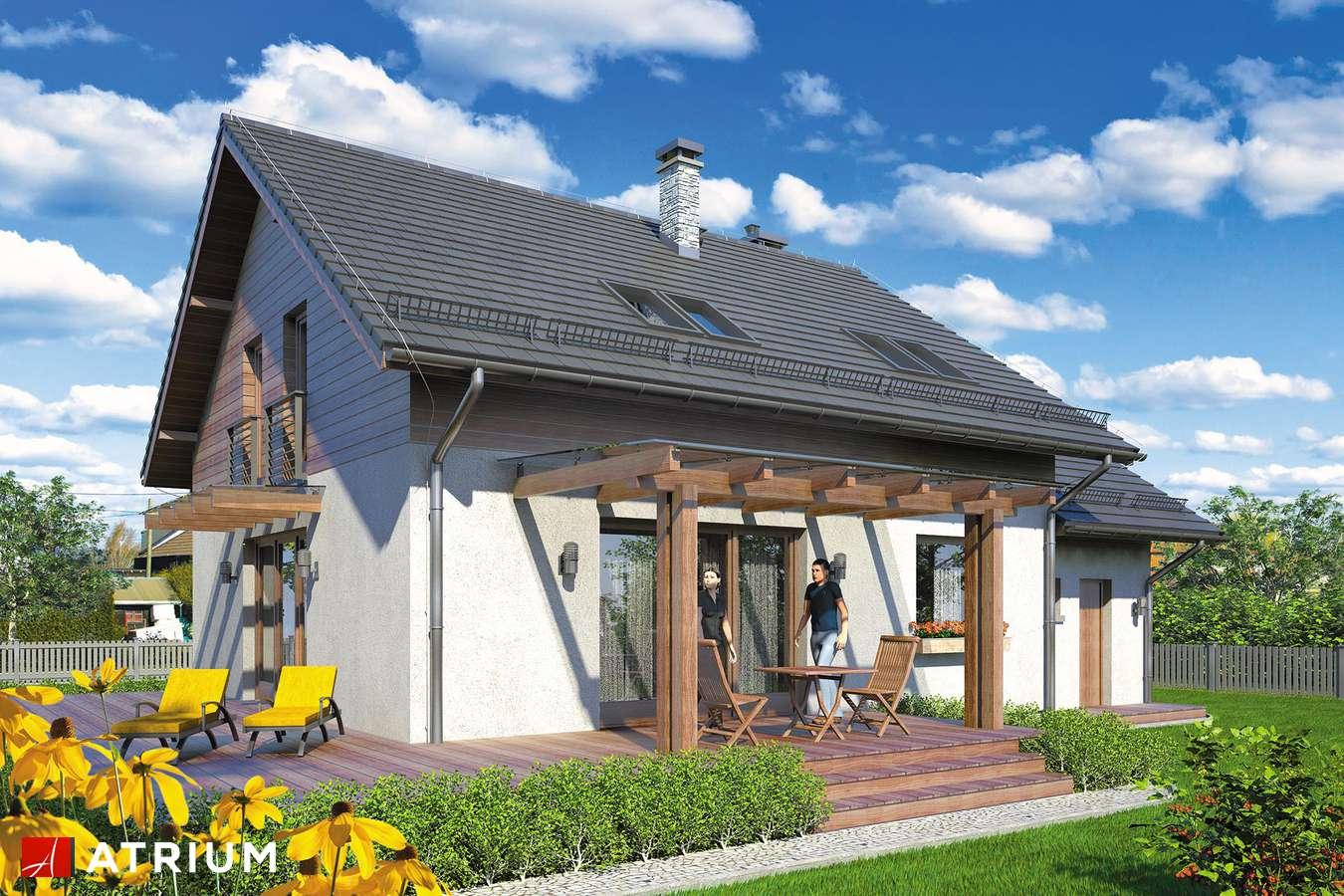 Projekty domów - Projekt domu z poddaszem ALETTA - wizualizacja 2