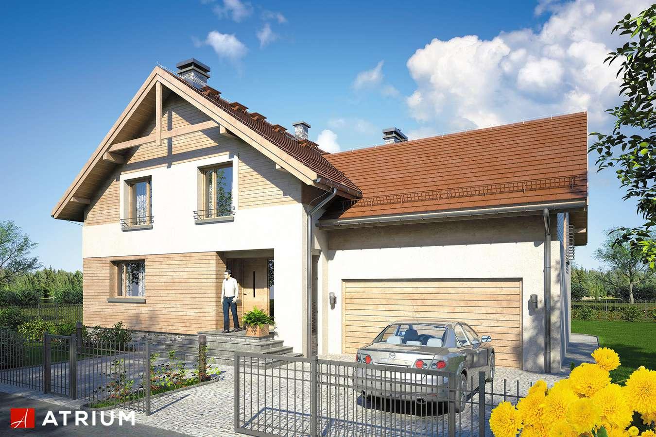 Projekty domów - Projekt domu z poddaszem JUPITER IX - wizualizacja 1