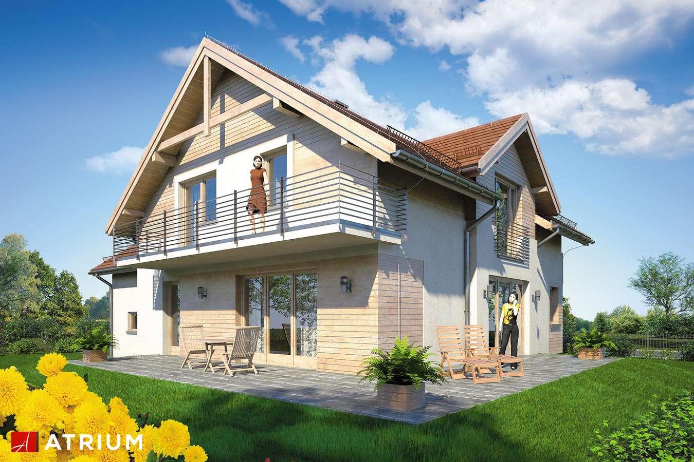 Projekty domów - Projekt domu z poddaszem JUPITER IX - wizualizacja 2