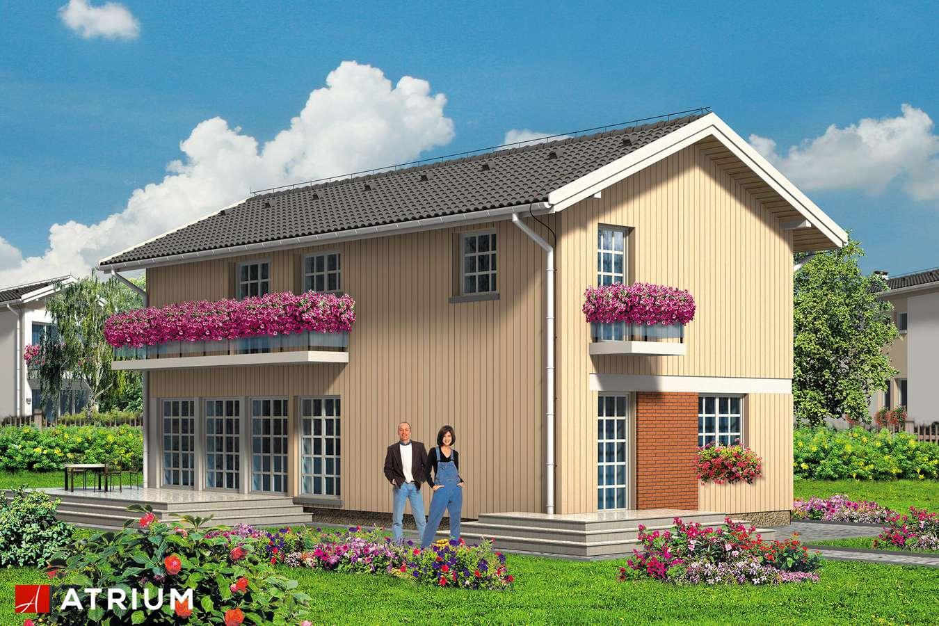 Projekty domów - Projekt domu piętrowego FORTE - wizualizacja 1