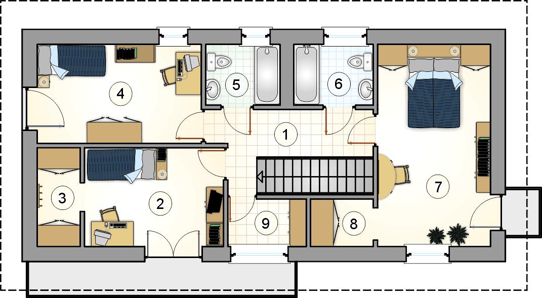 Rzut piętra - projekt Forte