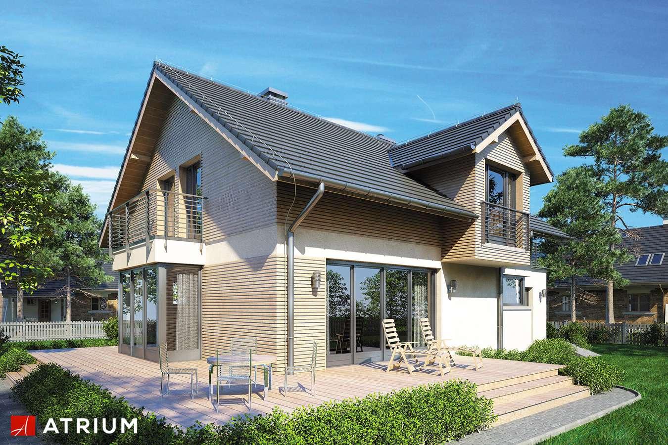 Projekt domu z poddaszem KELVIN SP - wizualizacja 1