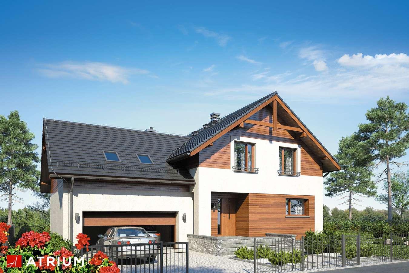 Projekty domów - Projekt domu z poddaszem JUPITER X - wizualizacja 1