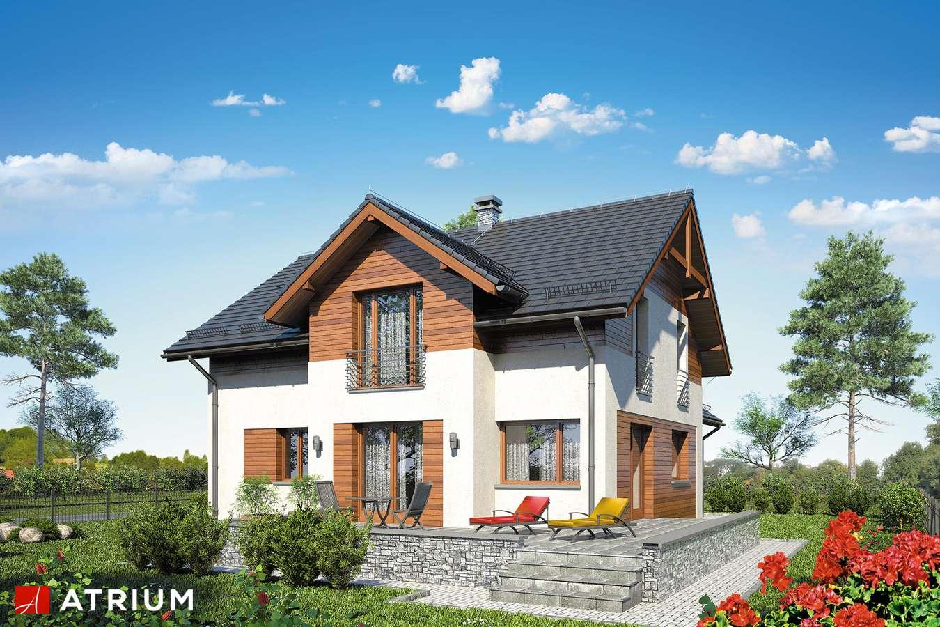 Projekty domów - Projekt domu z poddaszem JUPITER X - wizualizacja 2