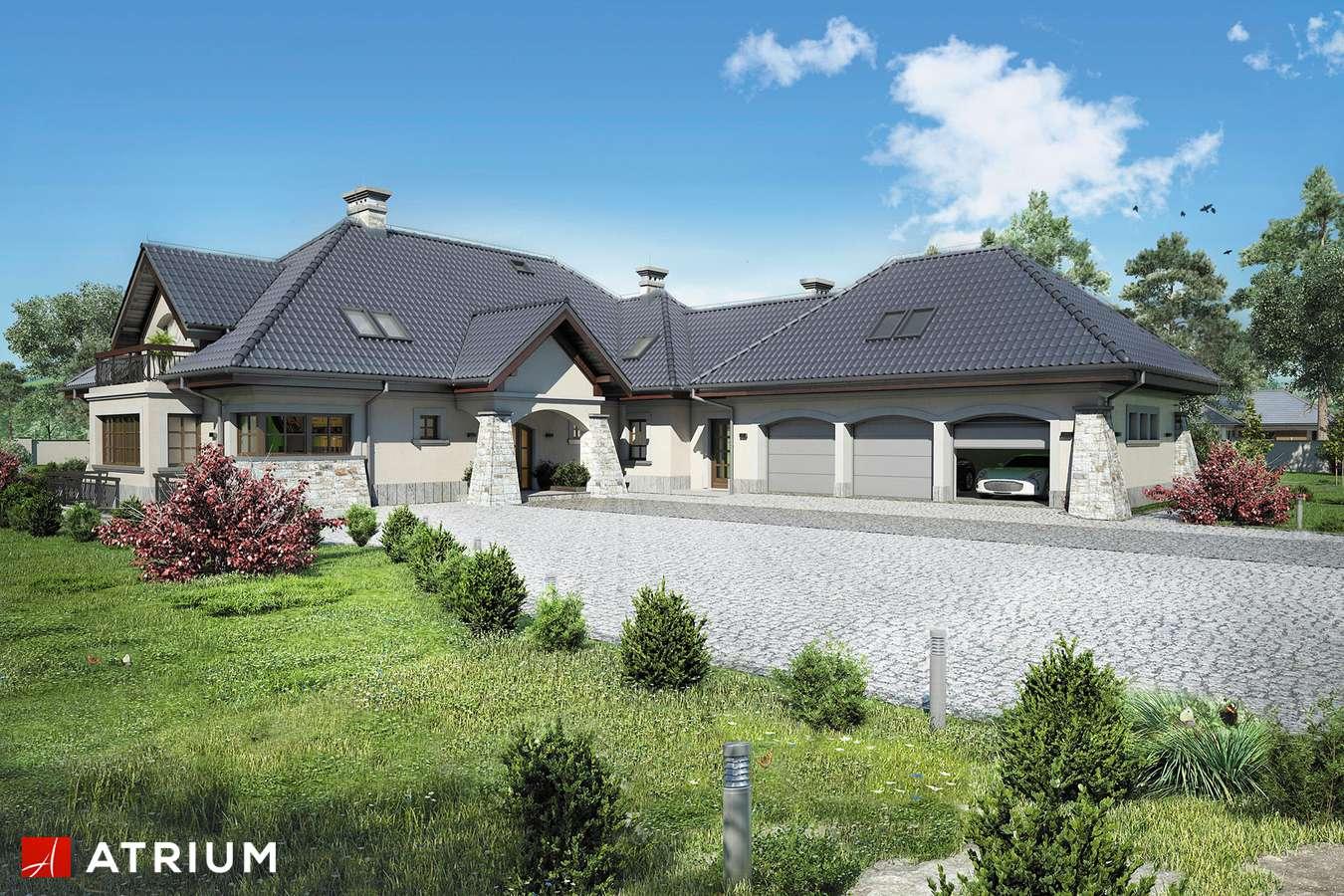 Projekty domów - Projekt domu z poddaszem WILLA PANORAMA II - wizualizacja 1