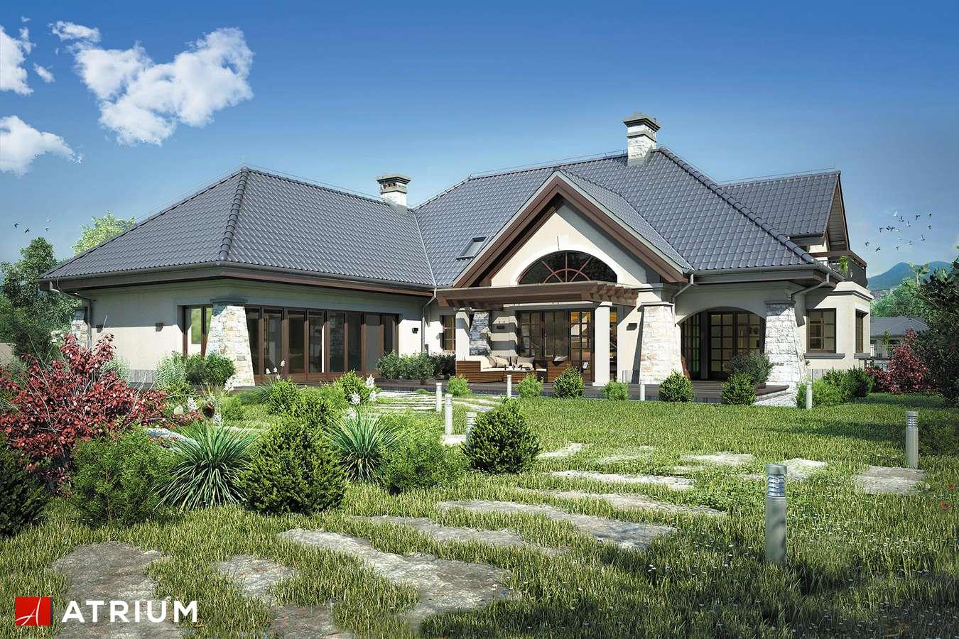 Projekty domów - Projekt domu z poddaszem WILLA PANORAMA II - wizualizacja 2