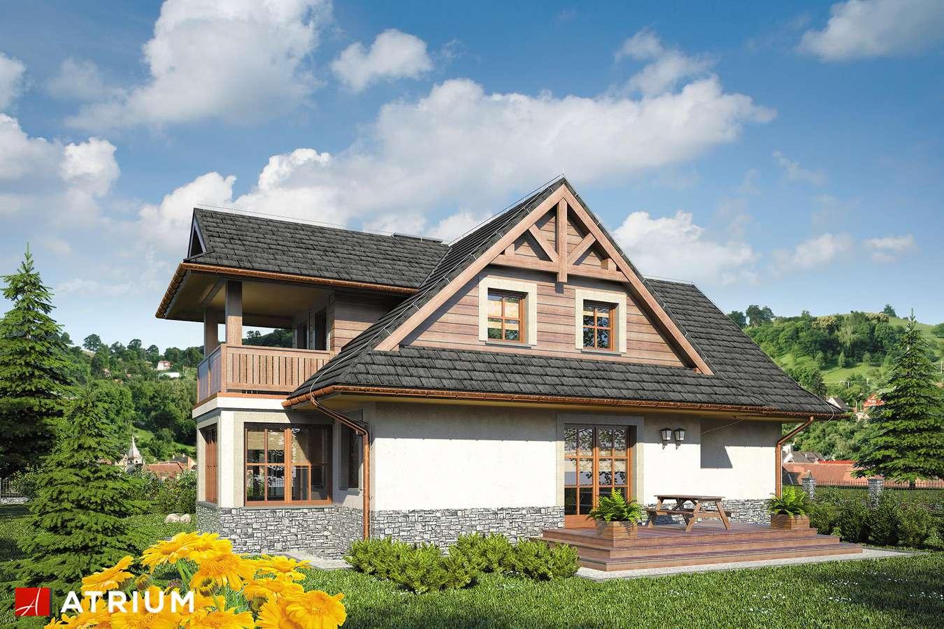 Projekty domów - Projekt domu z poddaszem SMREK IV - wizualizacja 2 - wersja lustrzana