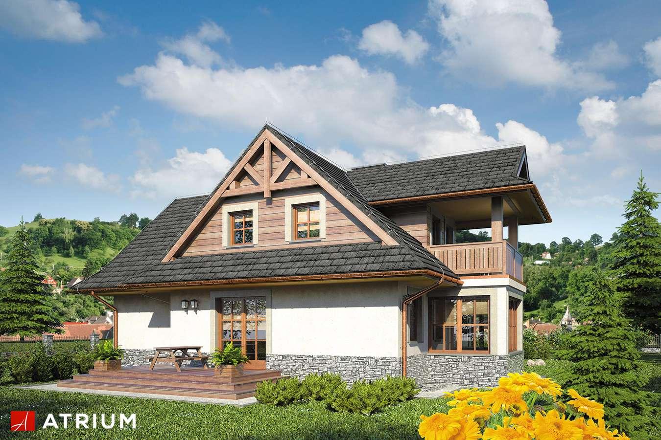 Projekty domów - Projekt domu z poddaszem SMREK IV - wizualizacja 2