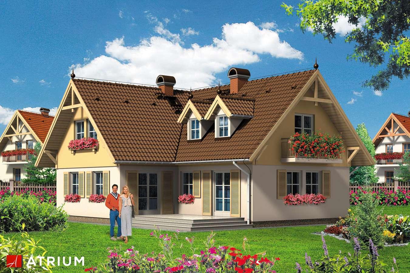 Projekt domu z poddaszem DOMINIK - wizualizacja 1