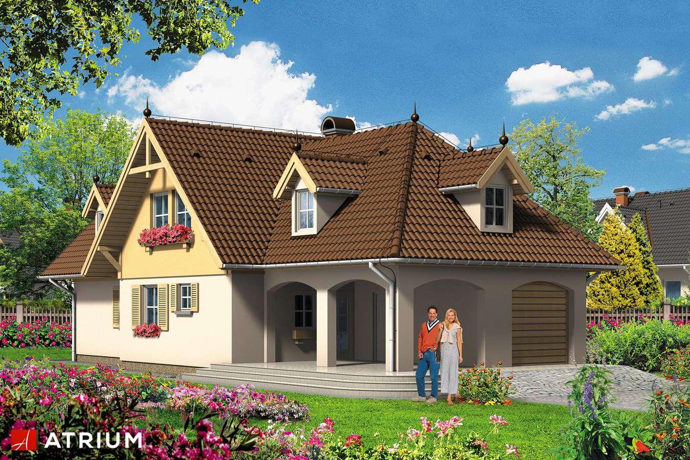 Projekt domu z poddaszem DOMINIK - wizualizacja 2