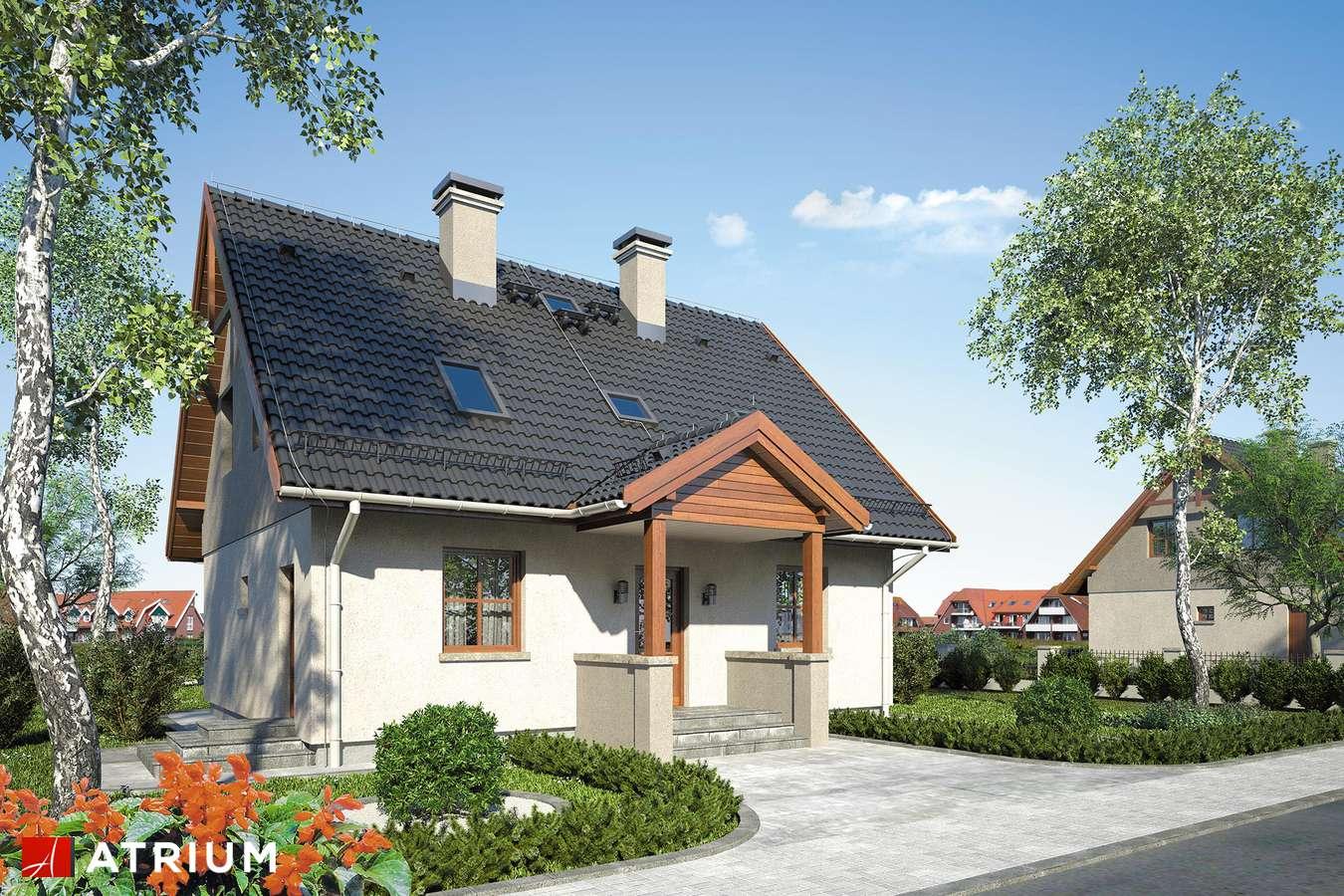Projekty domów - Projekt domu z poddaszem SłODKA ZOSIA SP - wizualizacja 1