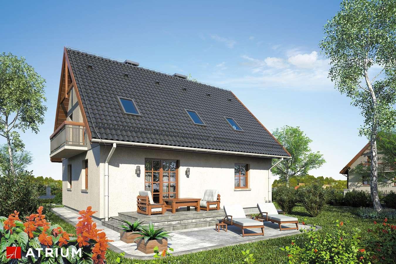 Projekty domów - Projekt domu z poddaszem SłODKA ZOSIA SP - wizualizacja 2