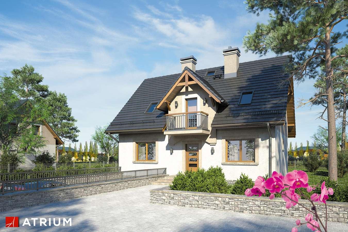 Projekty domów - Projekt domu z poddaszem ZUZA - wizualizacja 1 - wersja lustrzana