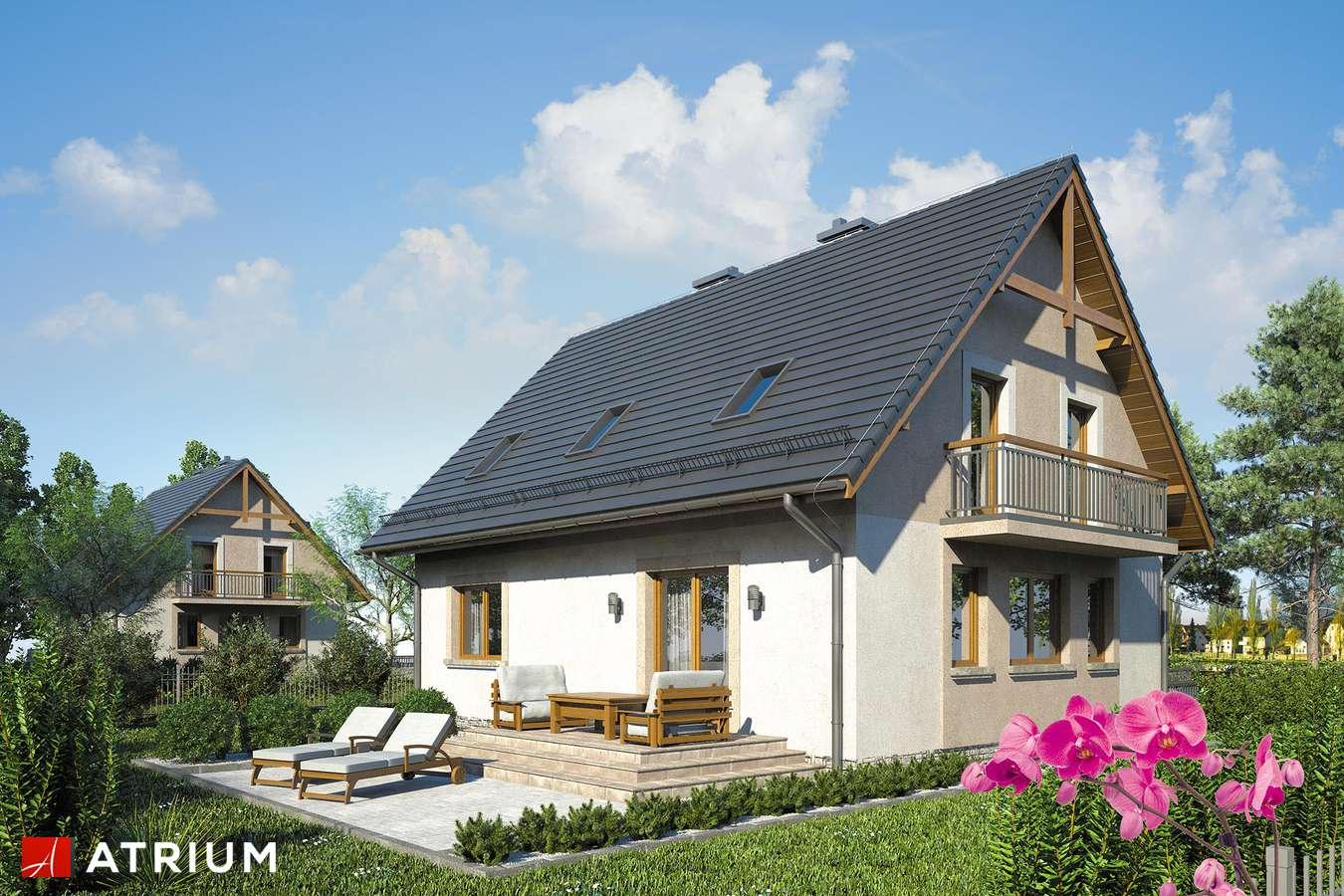 Projekty domów - Projekt domu z poddaszem ZUZA - wizualizacja 2 - wersja lustrzana