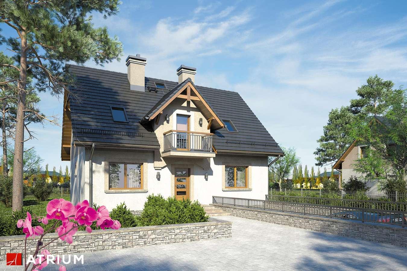 Projekty domów - Projekt domu z poddaszem ZUZA - wizualizacja 1
