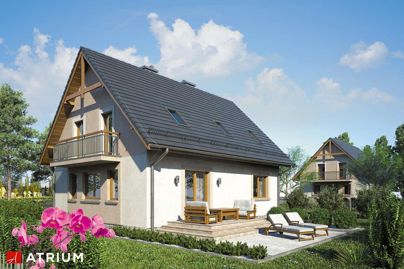 Projekty domów - Projekt domu z poddaszem ZUZA - wizualizacja 2
