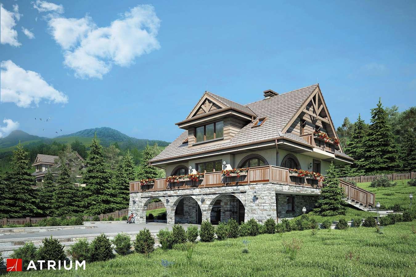 Projekty domów - Projekt domu z poddaszem WATRA II - wizualizacja 1