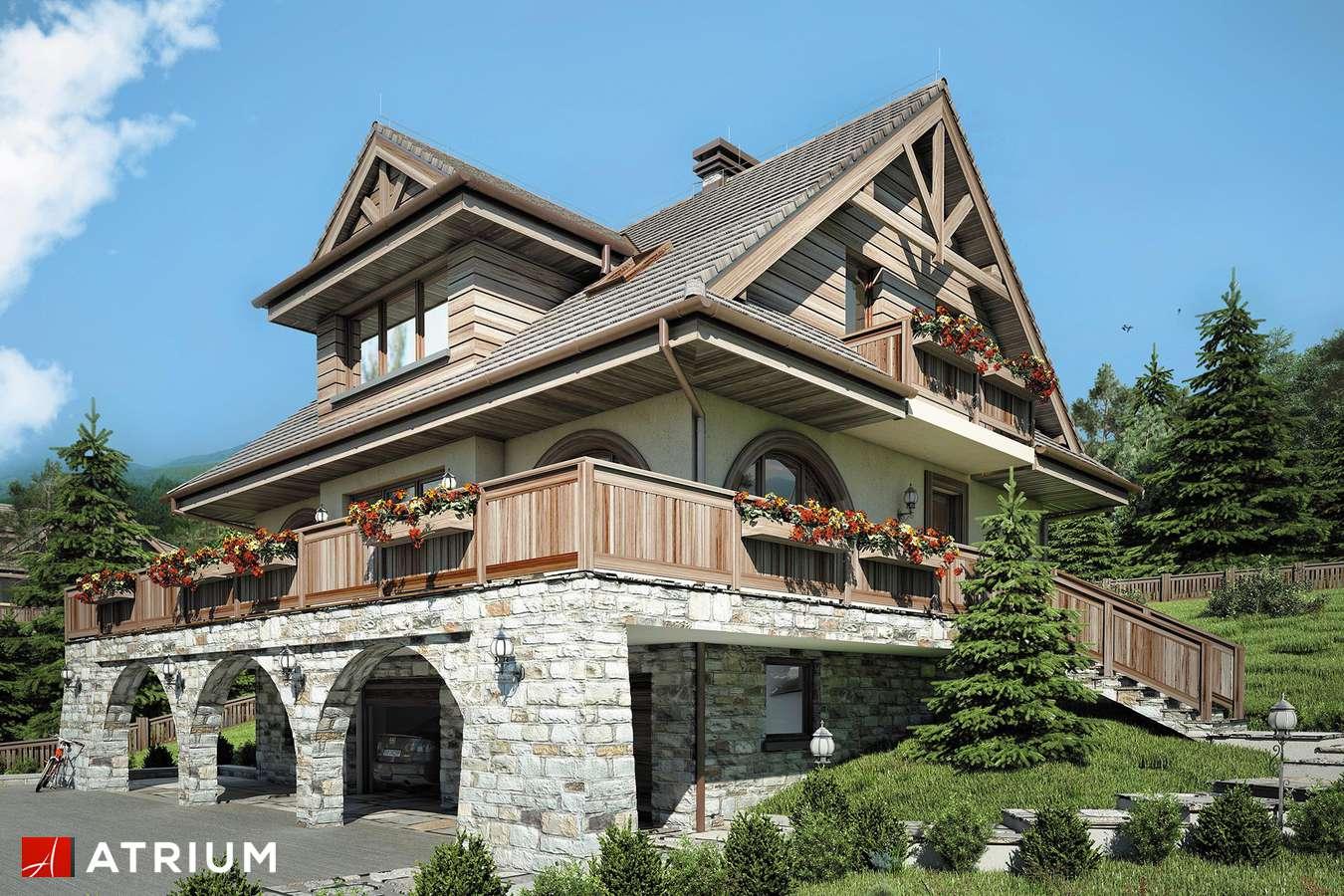 Projekty domów - Projekt domu z poddaszem WATRA II - wizualizacja 2