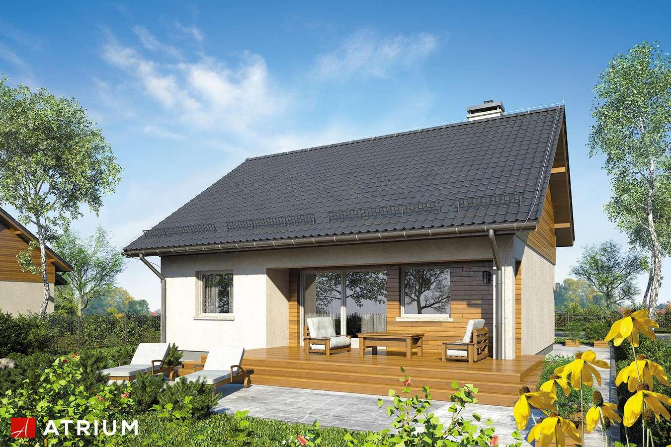 Projekty domów - Projekt domu z poddaszem REMIK V - wizualizacja 2