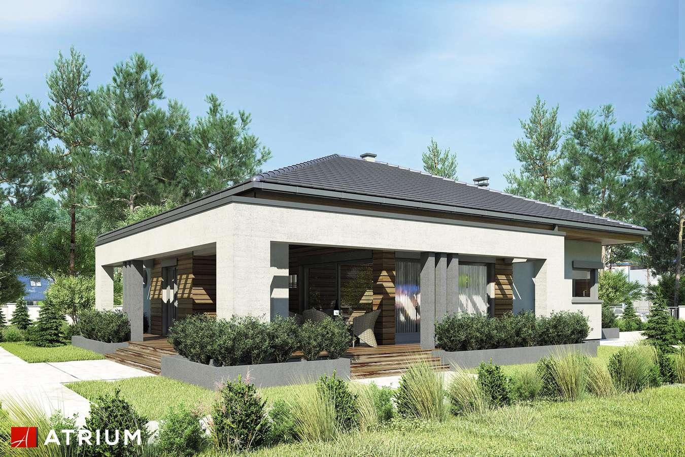 Projekty domów - Projekt domu parterowego SARDYNIA - wizualizacja 2