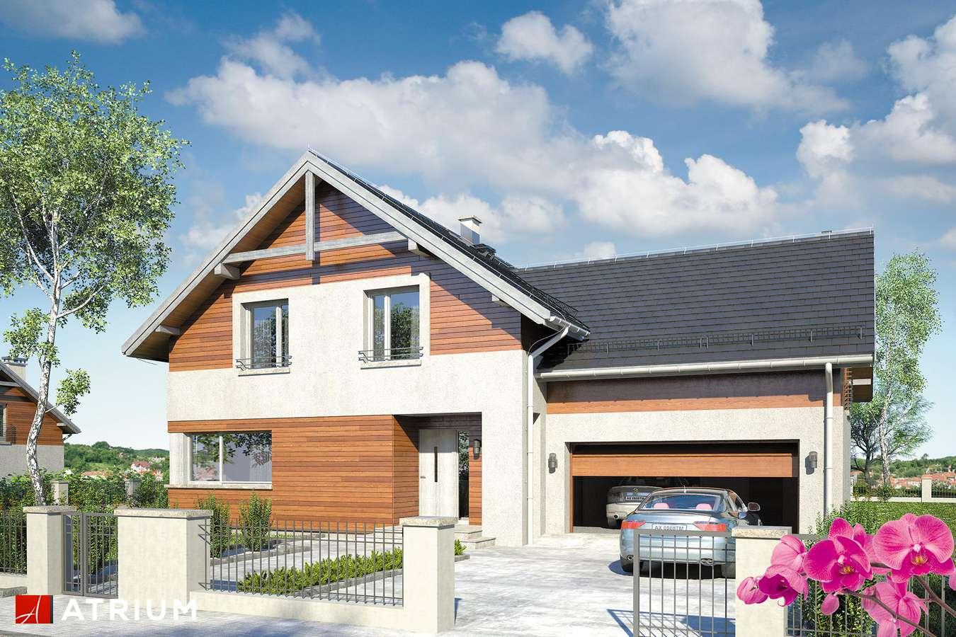 Projekty domów - Projekt domu z poddaszem JUPITER XI - wizualizacja 1