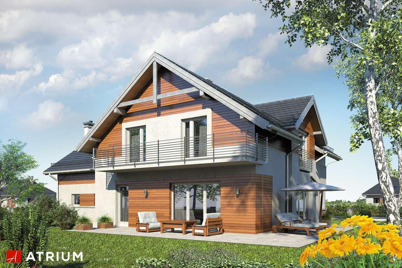 Projekty domów - Projekt domu z poddaszem JUPITER XI - wizualizacja 2