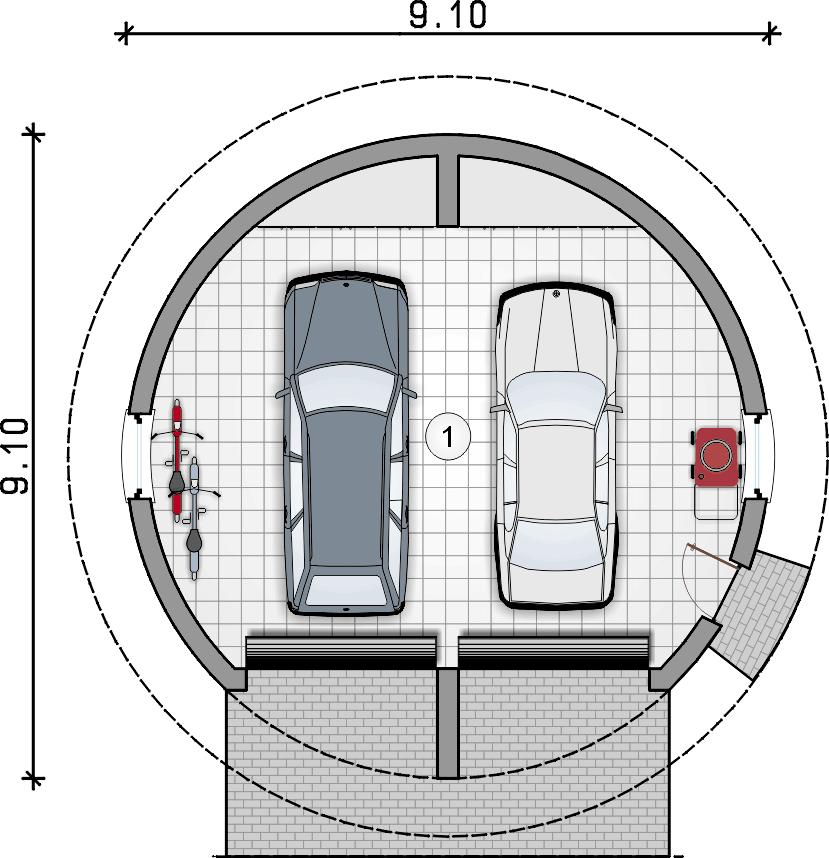 rzut garażu - Garaż Z 41