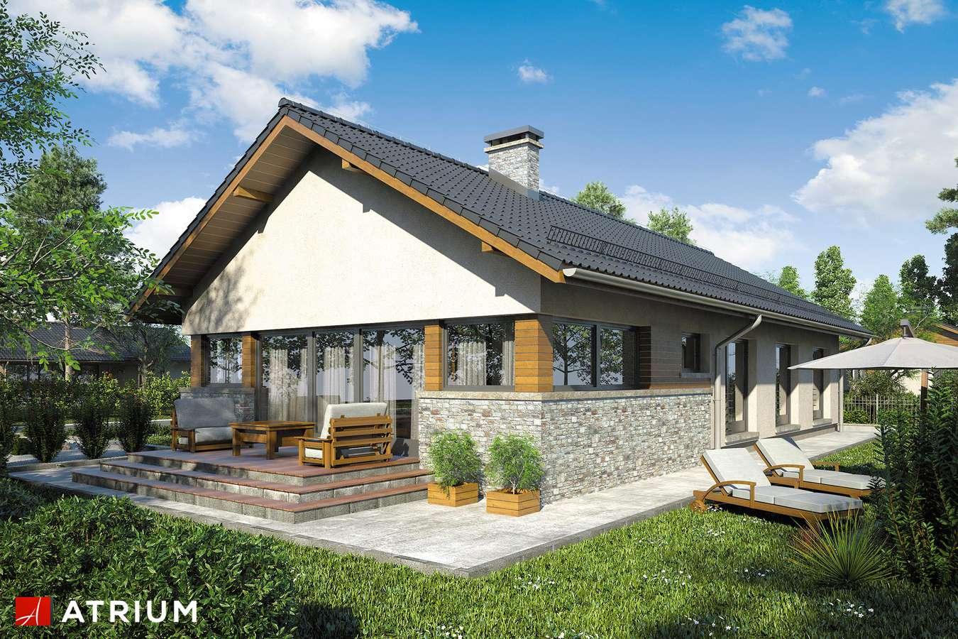 Projekty domów - Projekt domu parterowego NEVADA - wizualizacja 2