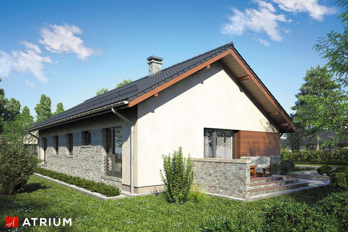 Projekty domów - Projekt domu parterowego NEVADA II - wizualizacja 2 - wersja lustrzana