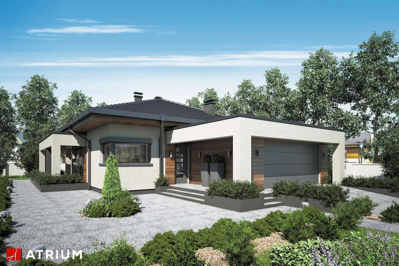 Projekty domów - Projekt domu parterowego SARDYNIA PLUS - wizualizacja 1