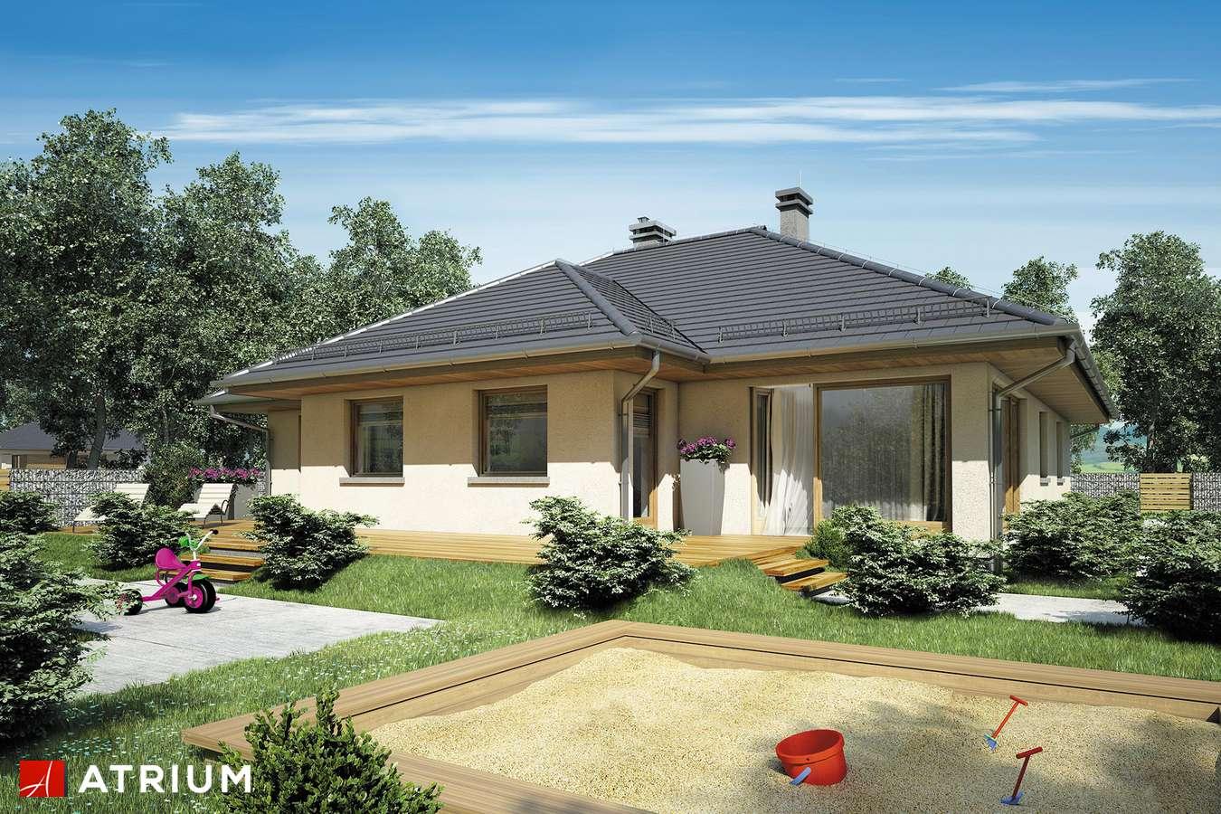Projekty domów - Projekt domu parterowego SATURN II - wizualizacja 2