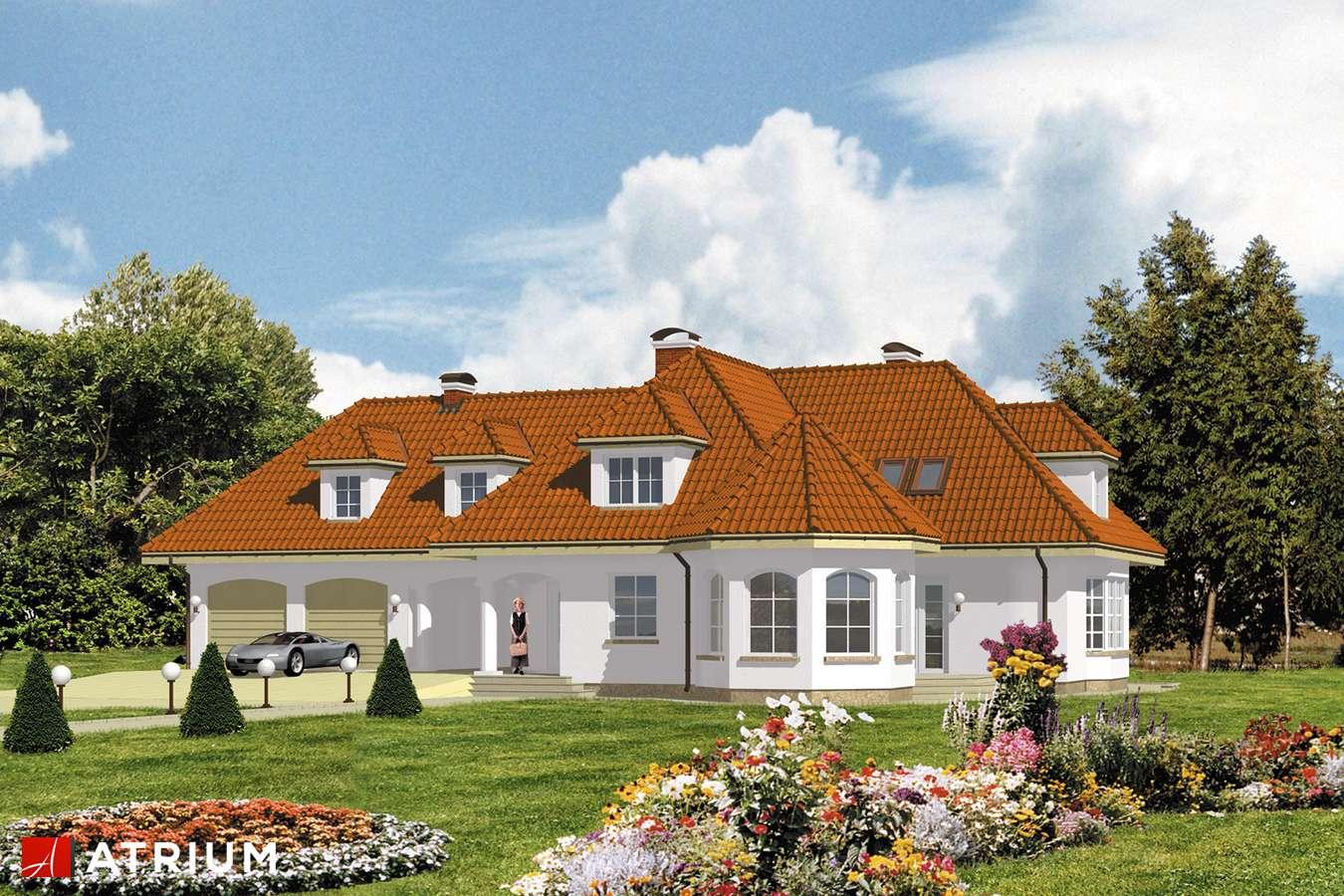 Projekty domów - Projekt domu z poddaszem SYMFONIA - wizualizacja 1