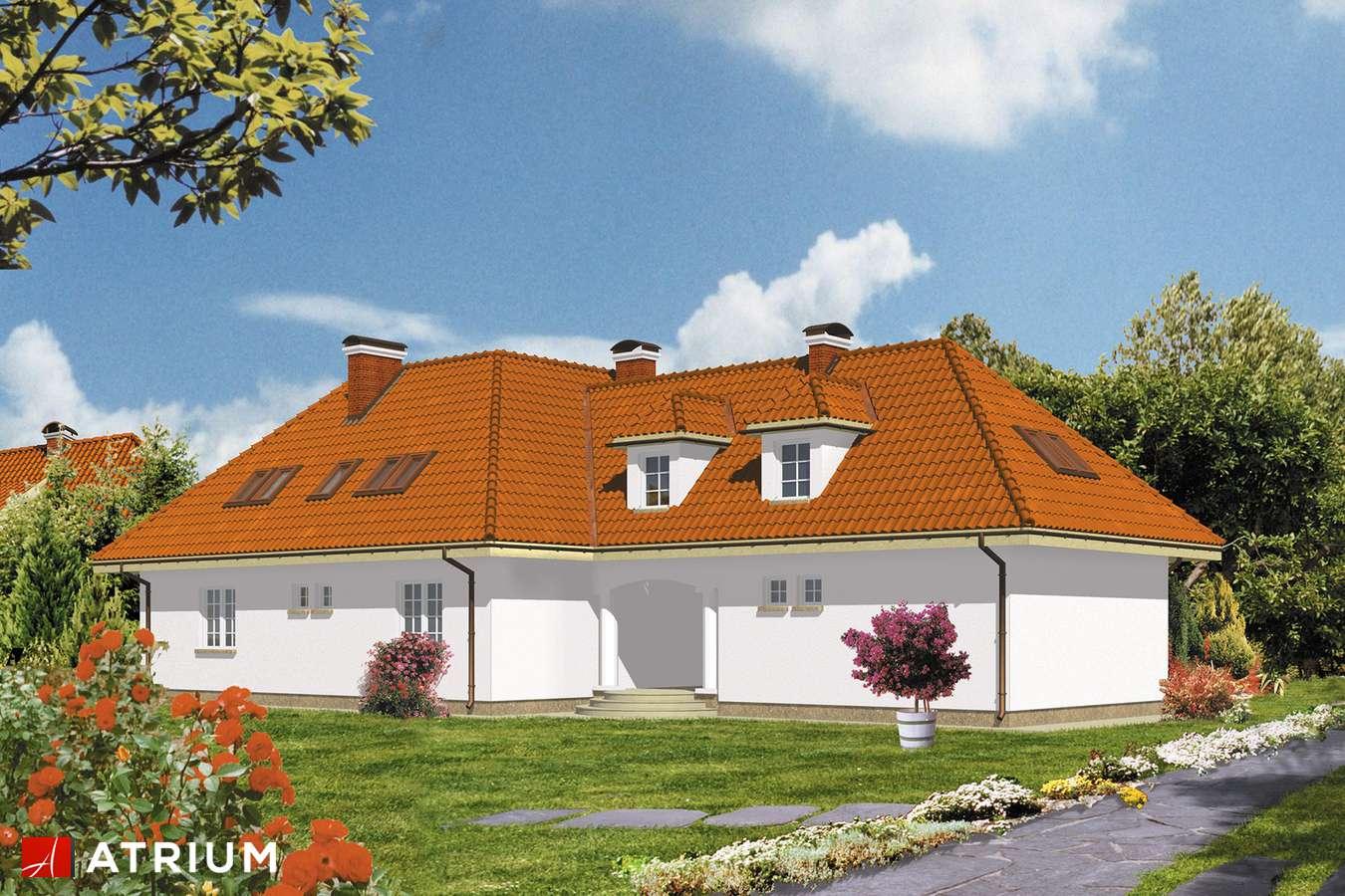 Projekty domów - Projekt domu z poddaszem SYMFONIA - wizualizacja 2