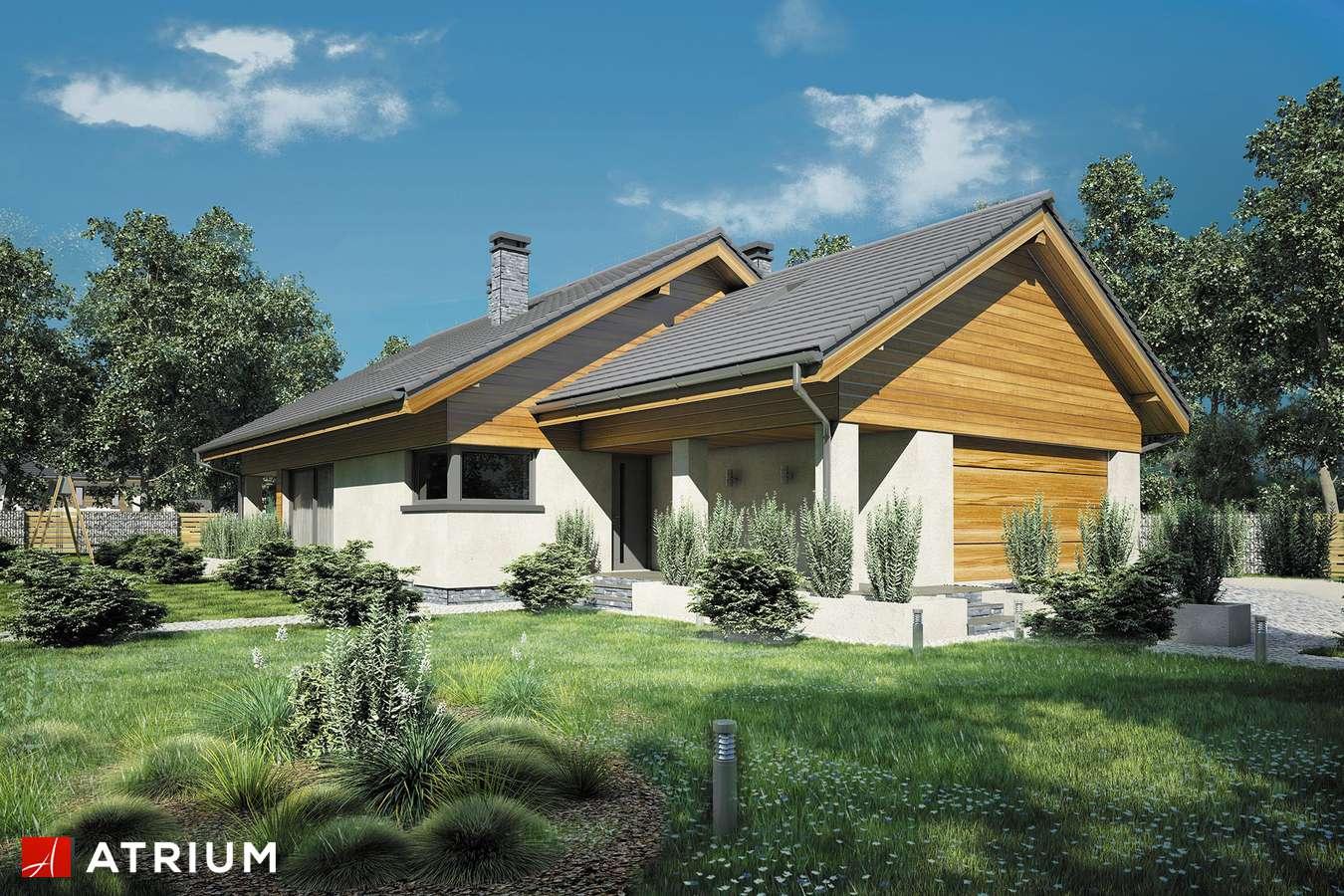 Projekty domów - Projekt domu z poddaszem MERLIN II - wizualizacja 1