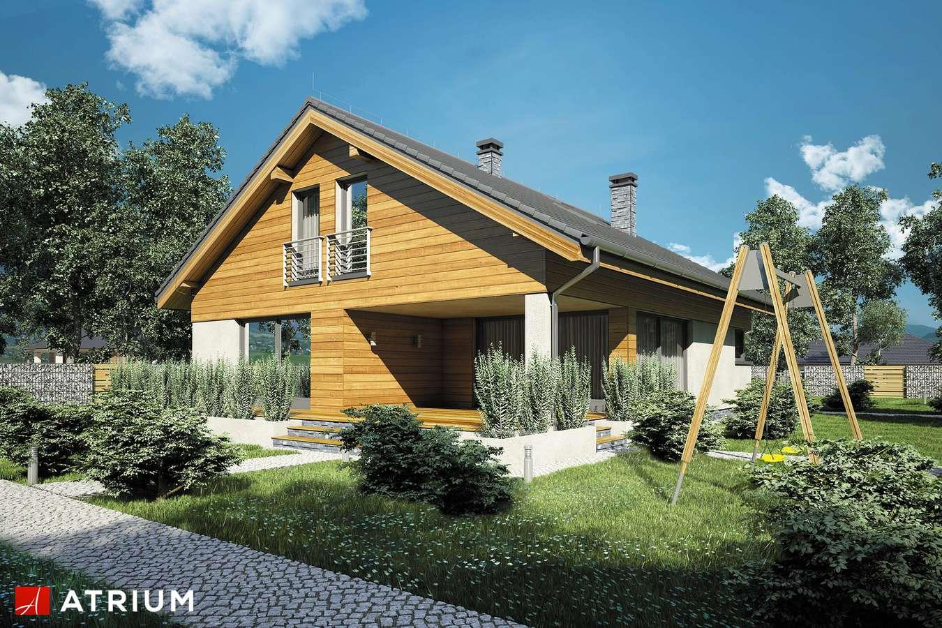 Projekty domów - Projekt domu z poddaszem MERLIN II - wizualizacja 2