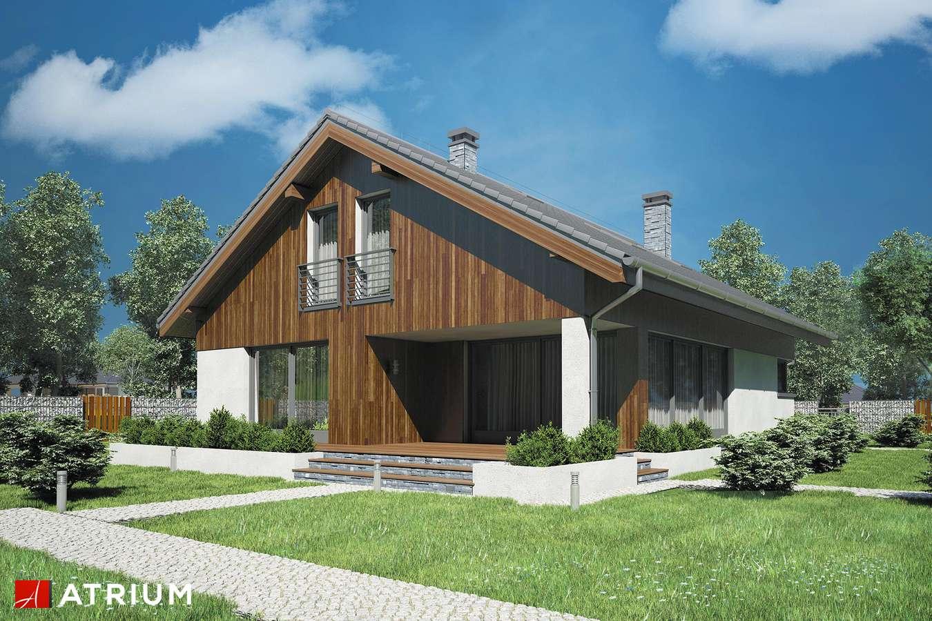 Projekty domów - Projekt domu z poddaszem MERLIN III - wizualizacja 2