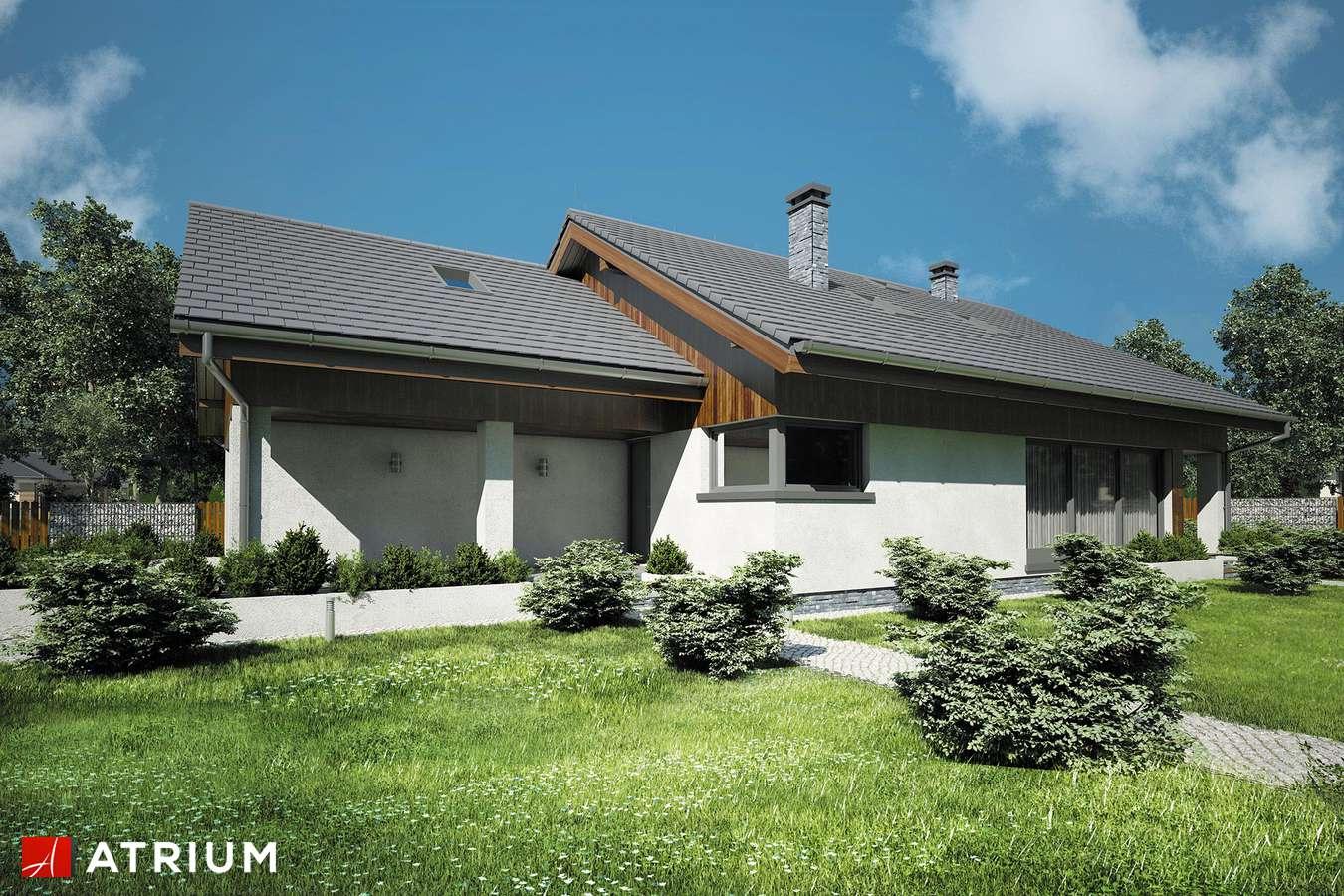 Projekty domów - Projekt domu z poddaszem MERLIN III - wizualizacja 1 - wersja lustrzana