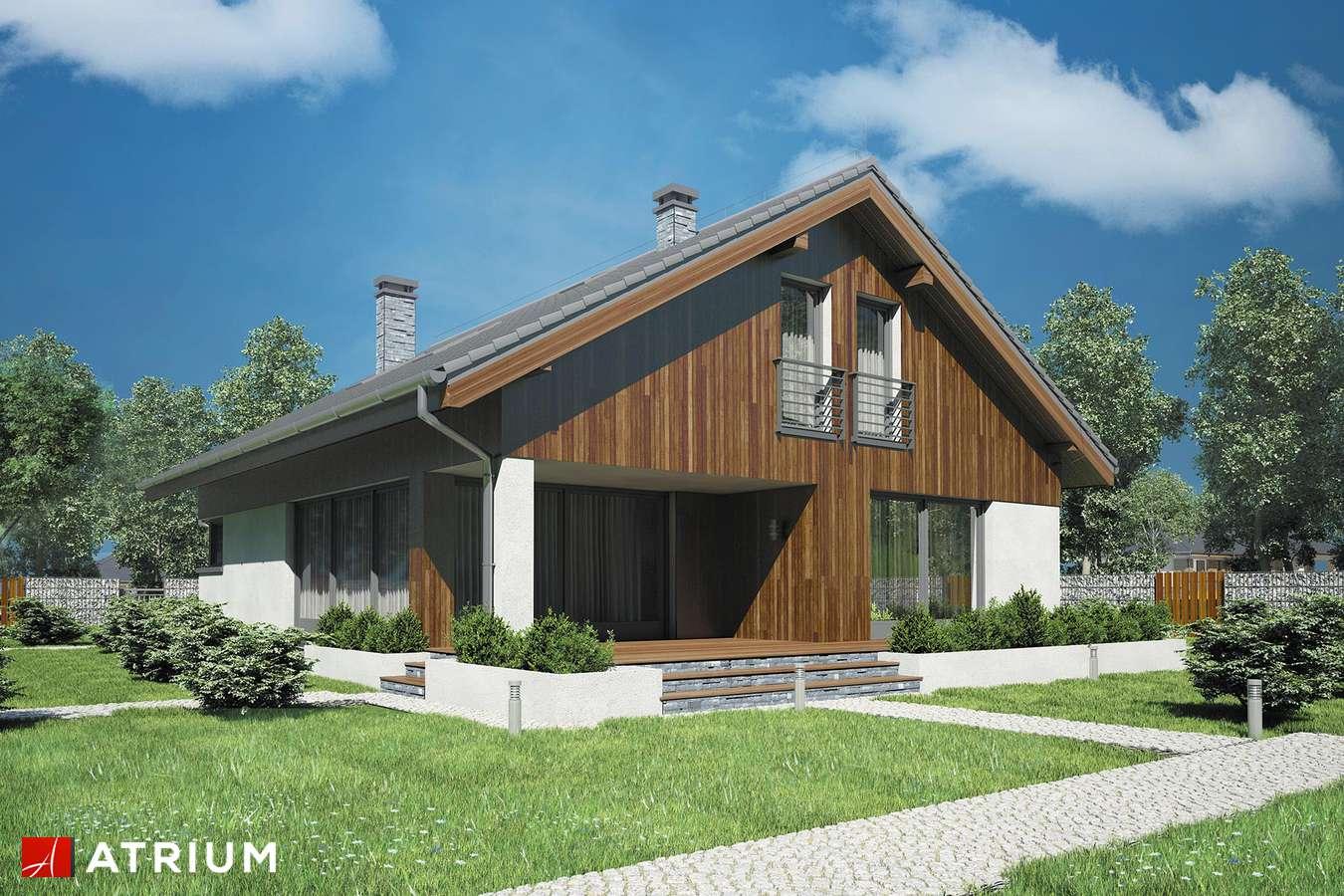 Projekty domów - Projekt domu z poddaszem MERLIN III - wizualizacja 2 - wersja lustrzana