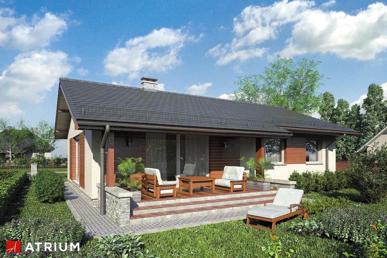 Projekty domów - Projekt domu parterowego NEO VIII - wizualizacja 2 - wersja lustrzana