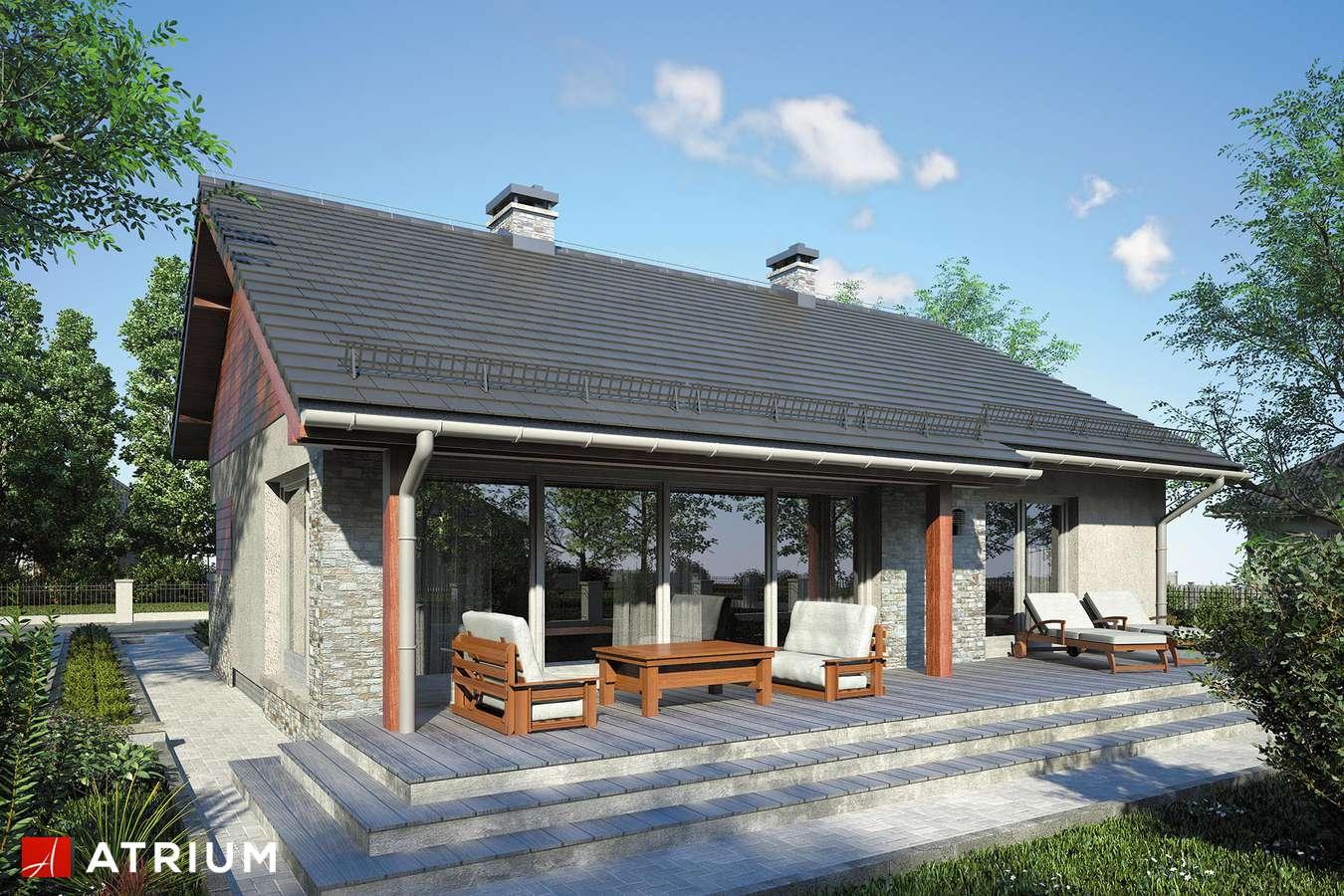 Projekty domów - Projekt domu parterowego REFLEX II - wizualizacja 2