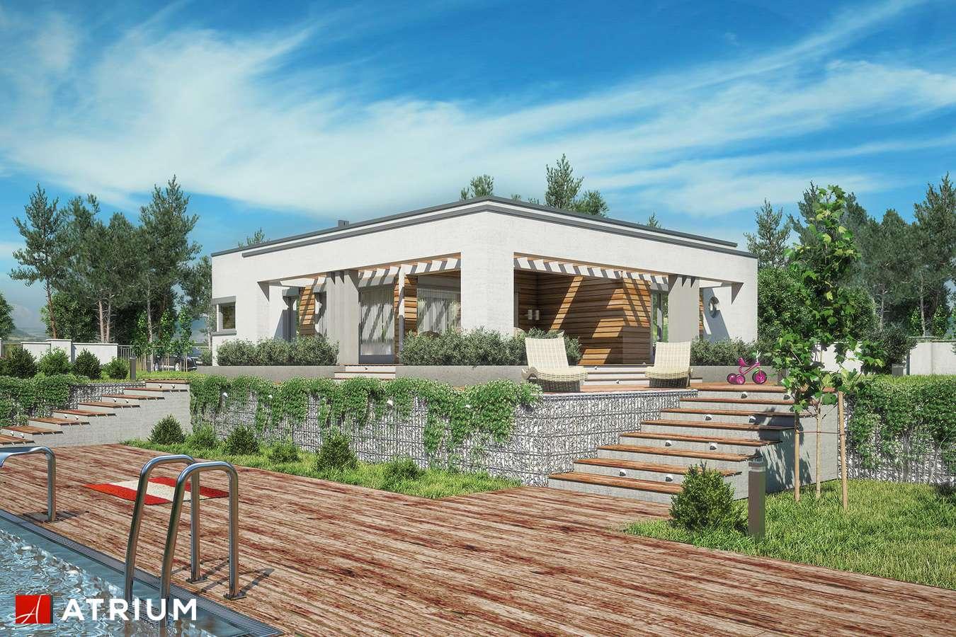 Projekty domów - Projekt domu parterowego SARDYNIA III - wizualizacja 2 - wersja lustrzana