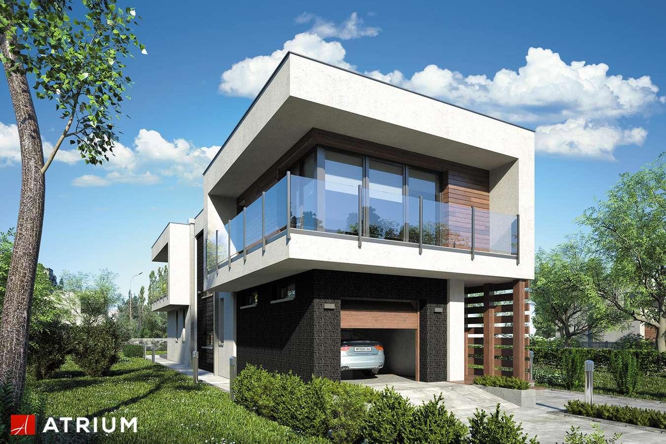 Projekty domów - Projekt domu piętrowego MODERN HOUSE - wizualizacja 1 - wersja lustrzana