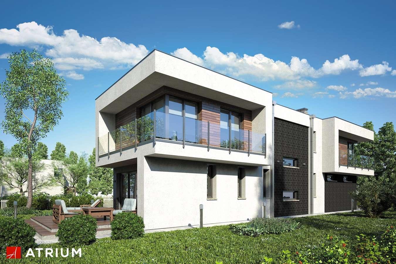 Projekty domów - Projekt domu piętrowego MODERN HOUSE - wizualizacja 2 - wersja lustrzana