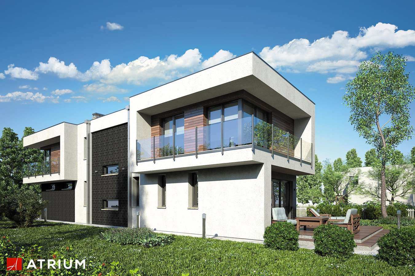 Projekty domów - Projekt domu piętrowego MODERN HOUSE - wizualizacja 2