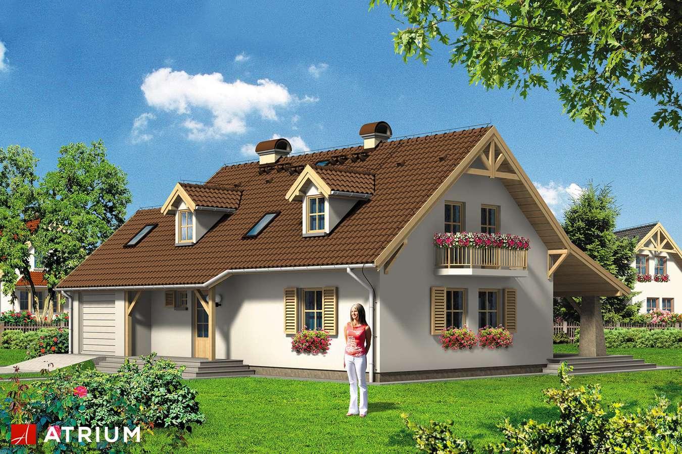 Projekty domów - Projekt domu z poddaszem BIAłY KRUK - wizualizacja 2