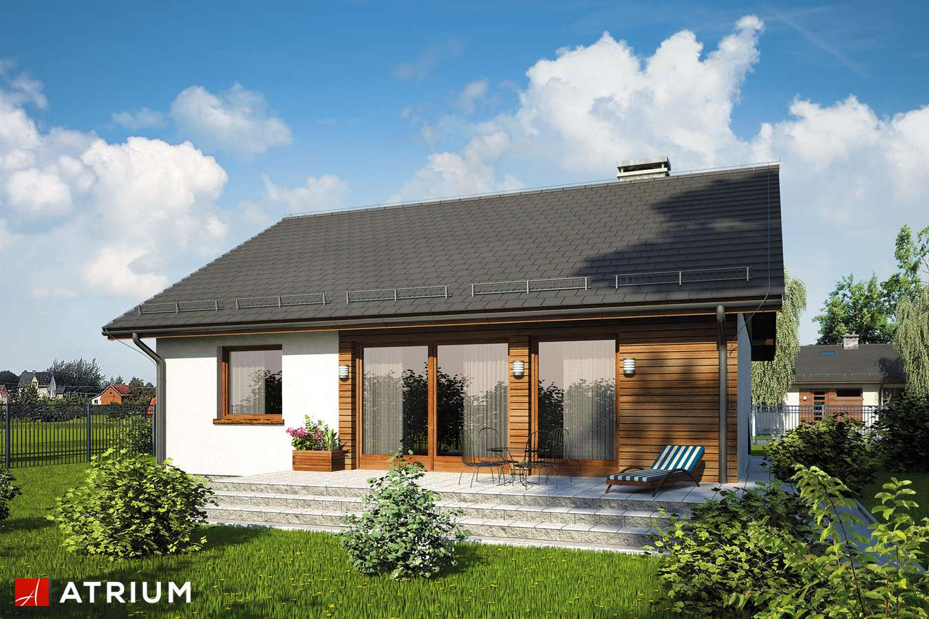 Projekty domów - Projekt domu parterowego REMIK MAX - wizualizacja 2