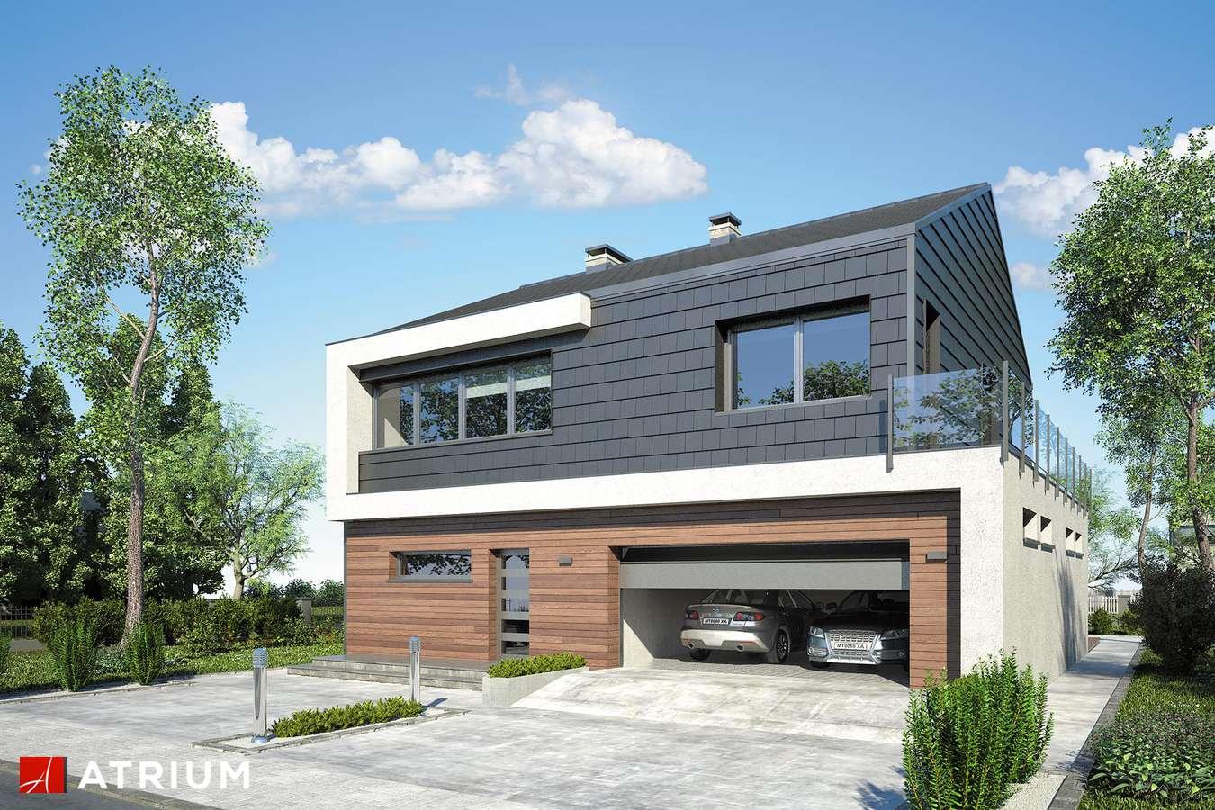 Projekty domów - Projekt domu piętrowego NEW HOUSE - wizualizacja 1 - wersja lustrzana