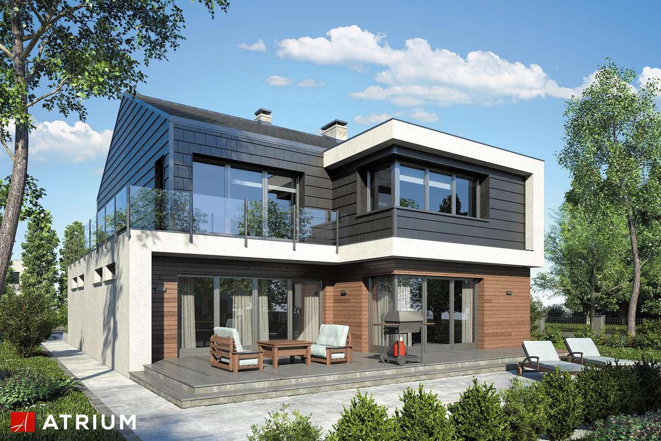 Projekty domów - Projekt domu piętrowego NEW HOUSE - wizualizacja 2 - wersja lustrzana