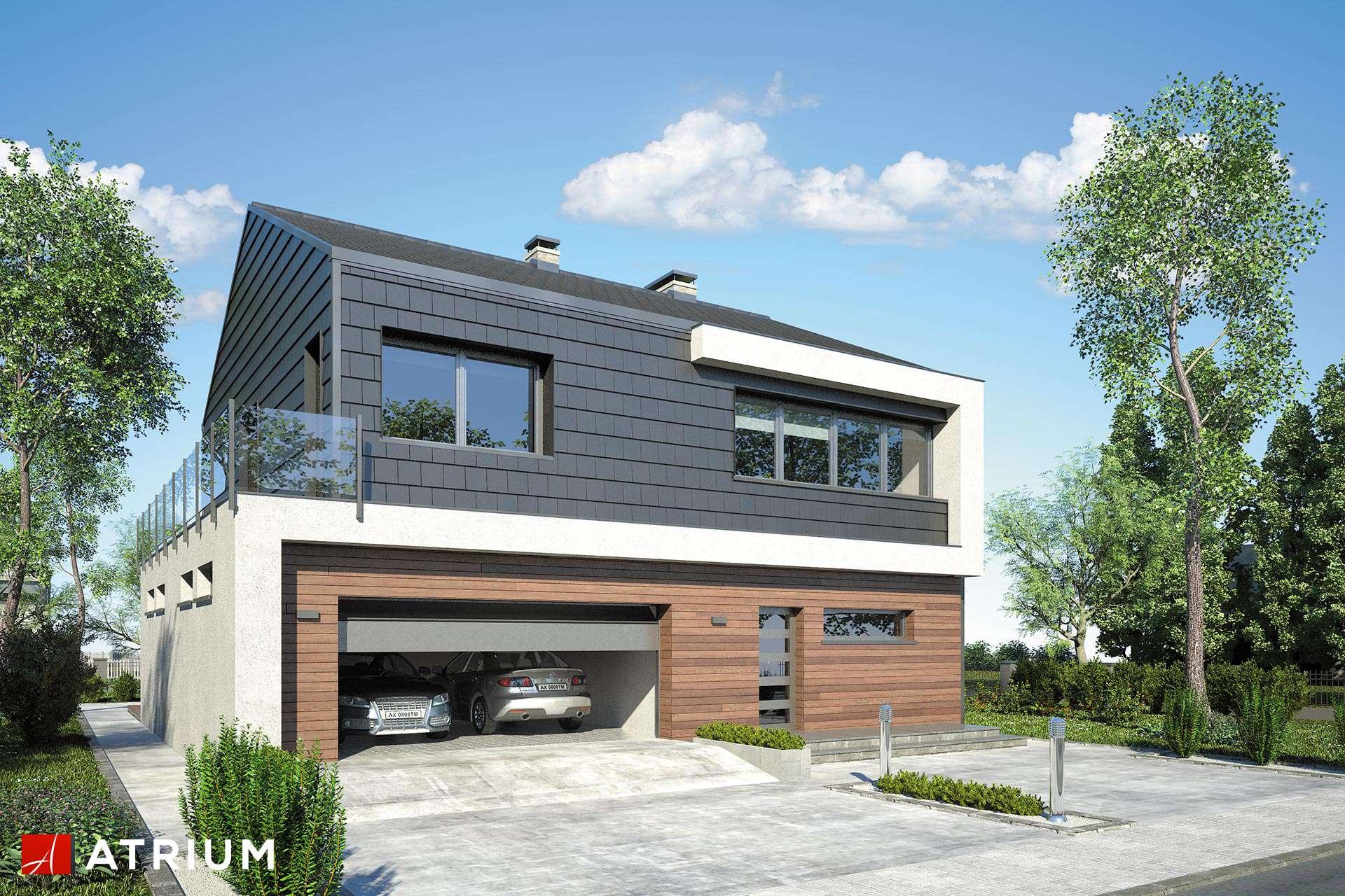 New House Nowoczesny Dom Pietrowy Z Dwuspadowym Dachem Studio Atrium